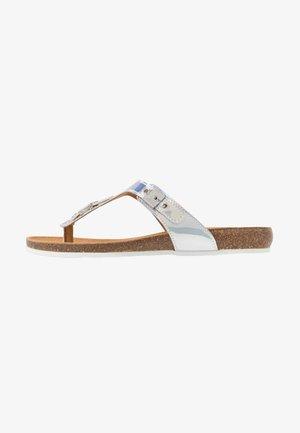 BIMINOIS - T-bar sandals - argent