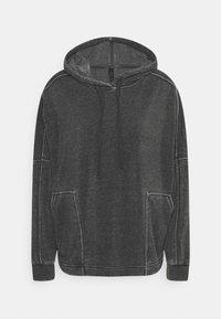 Hoodie - washed black