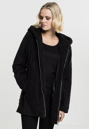 LADIES SHERPA  - Short coat - black