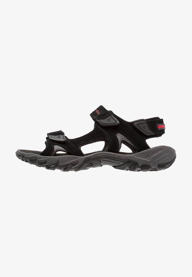 SANTIAM 3 STRAP - Chodecké sandály - black/mountain red