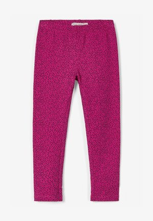 Brush-Effekt - Leggings - very berry