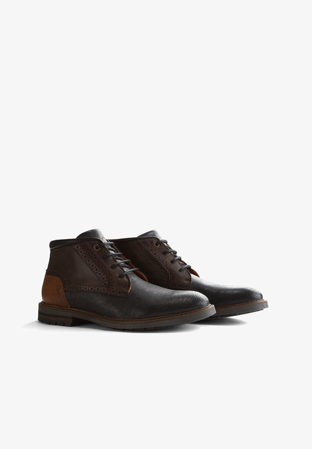 BACKHILL - Lace-ups - blue-brown