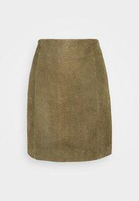 ELECTRA - Mini skirt - kalamata