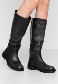 Felmini Wide Fit - COOPER - Vysoká obuv - lavado black - 0