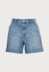 Esprit - DENIM - Denim shorts - blue light wash - 4