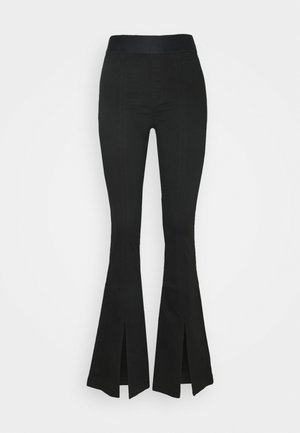 ESTELLAH HIGH RISE SPLIT FLARE - Flared Jeans - seriously black