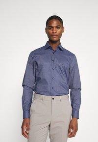Calvin Klein Tailored - CHECK EASY CARE - Formal shirt - navy - 0