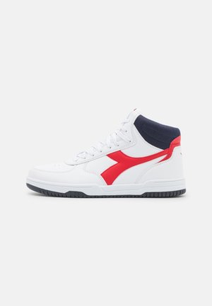 RAPTOR MID UNISEX - High-top trainers - white/black iris/tomato red