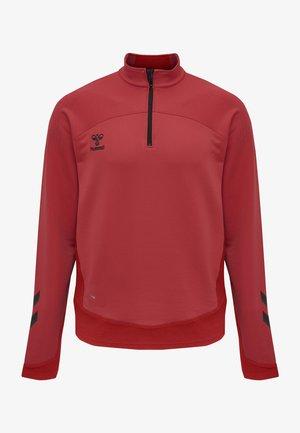LEAD HALF ZIP - Sweatshirt - true red
