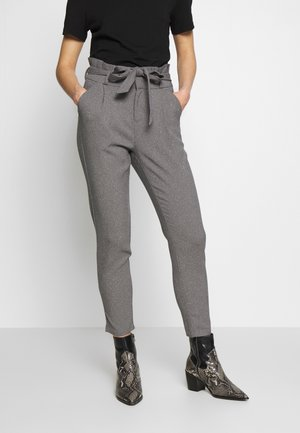 VMEVA LOOSE PAPERBAG  - Trousers - mottled grey