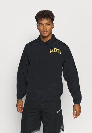 NBA LA LAKERS ESSENTIAL LIGHTWEIGHT JACKET - Article de supporter - black/amarillo