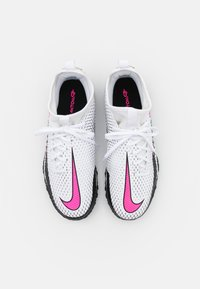Nike Performance - JR PHANTOM GT ACADEMY TF UNISEX - Astro turf trainers - white/pink blast/black - 3