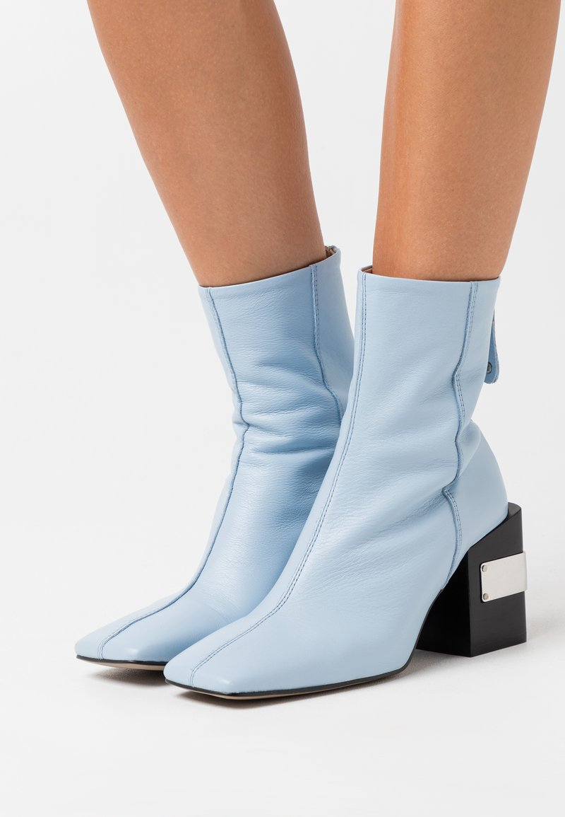 Topshop - HARRIS BLOCK - Bottines à talons hauts - light blue