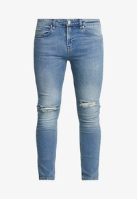 Daily Basis Studios - SKINNY FIT CAST - Jeans Skinny Fit - blue rip - 4
