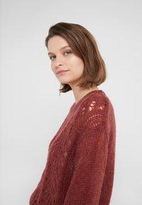 Bruuns Bazaar - BELLA KASS  - Jumper - brown bordeaux - 3