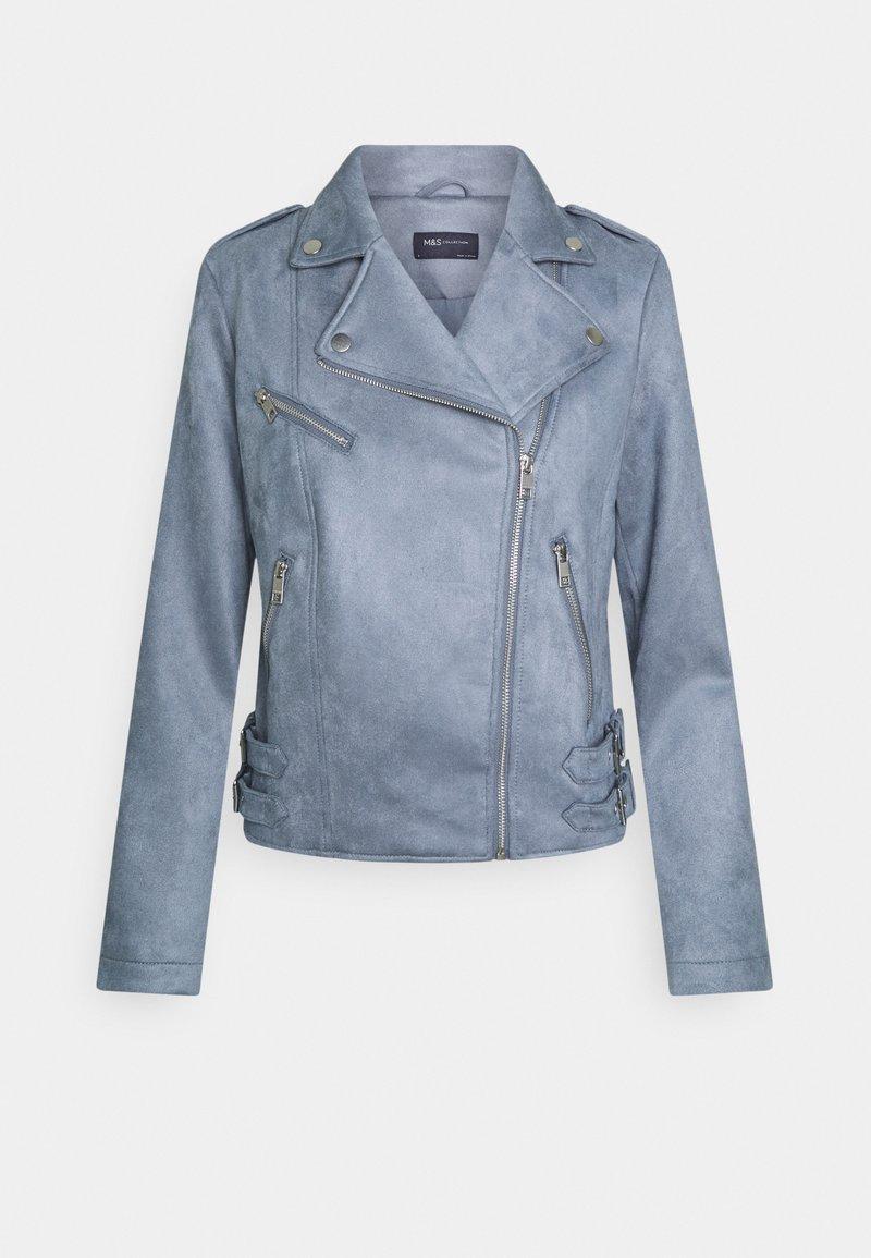 Marks & Spencer London - Faux leather jacket - blue