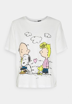 PEANUT LIFE PRINT - Camiseta estampada - cloud dancer