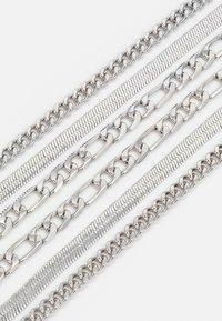 Topman - MULTIROW CHAIN 3 PACK - Ketting - silver-coloured - 2