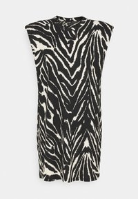 Monki - ALVINA SHOULDER DRESS - Basic T-shirt - zebra - 4