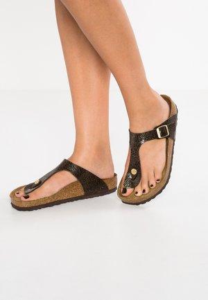 GIZEH  - T-bar sandals - myda espresso