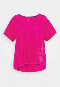 Nike Performance - ICON CLASH MILER - Print T-shirt - fire berry/white - 0