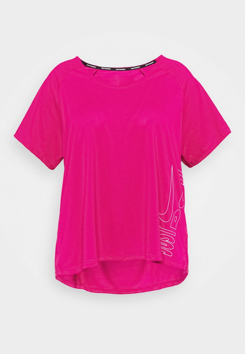 Nike Performance - ICON CLASH MILER - Print T-shirt - fire berry/white