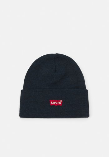 RED BATWING EMBROIDERED SLOUCHY BEANIE - Muts - navy blue