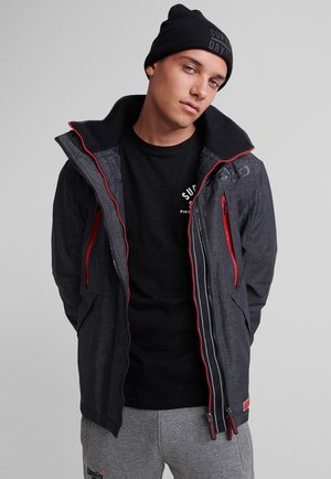 HOODED POLAR WIND ATTACKER - Training jacket - charcoal
