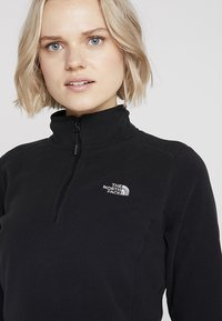 The North Face - WOMENS 100 GLACIER 1/4 ZIP - Fleecetrøjer - black - 3