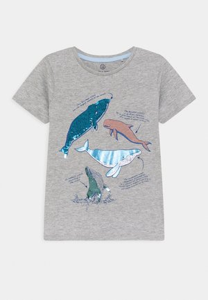 SMALL BOYS - Print T-shirt - grey melange