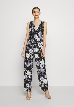 JDYSTARR LIFE  - Jumpsuit - black/rose of sharon flower