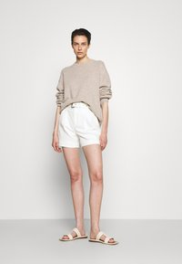 MICHAEL Michael Kors - PLEATED BELTED - Denim shorts - white - 1