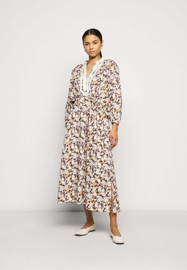 PRINTED PUFFED SLEEVE DRESS - Korte jurk - reverie
