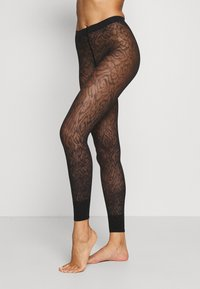 FALKE - FALKE ZEBRA 20 DENIER  LEGGINGS TRANSPARENT FEIN BRAUN - Leggings - Stockings - black - 0