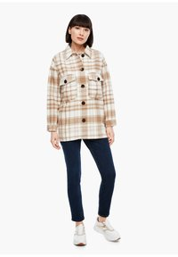 s.Oliver - Light jacket - offwhite check - 1
