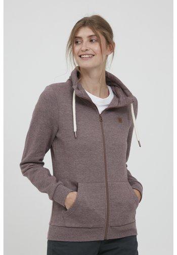 VICKY - Zip-up sweatshirt - sparrow m