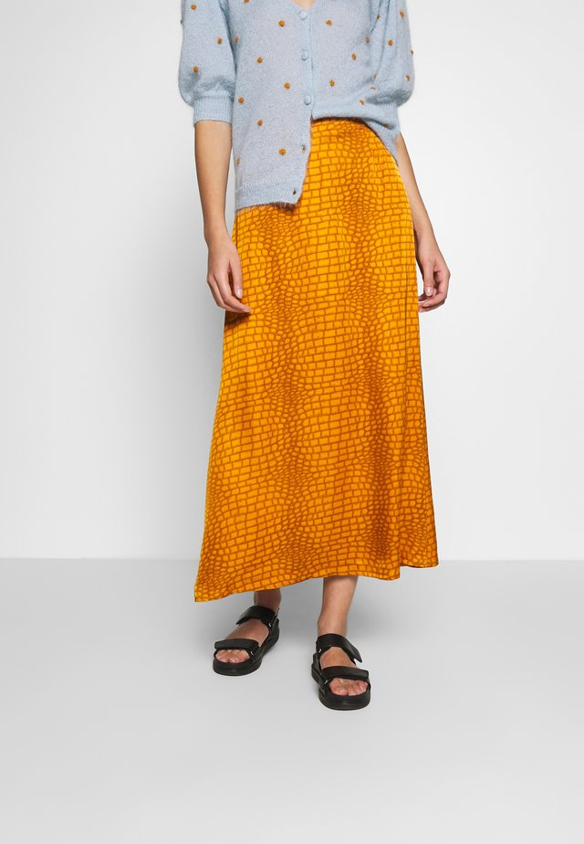 TABBYGZ SKIRT - Maxi skirt - golden oak