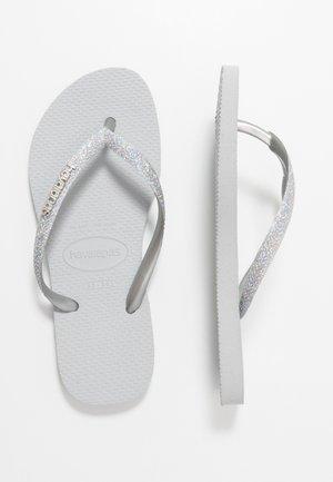 SLIM GLITTER - Pool shoes - steel grey