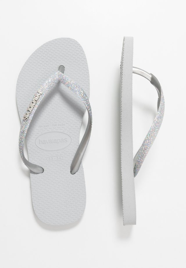 SLIM GLITTER - Pool shoes - steel grey