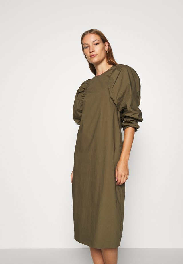 KEEN DRESS - Korte jurk - army