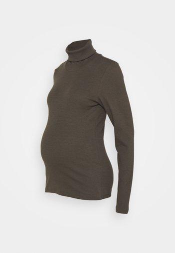 PCMANNA ROLLNECK - Long sleeved top - black olive