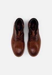 Lloyd - FERNANDO - Lace-up ankle boots - cognac/anthrazit - 3
