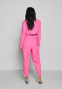 Topshop - PINK BUTTON DETAIL  - Pantalones - pink - 2