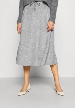 EDUCATA - Áčková sukně - light grey