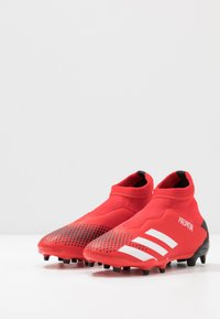 adidas Performance - PREDATOR 20.3 LL FG - Moulded stud football boots - active red/footwear white/core black - 3