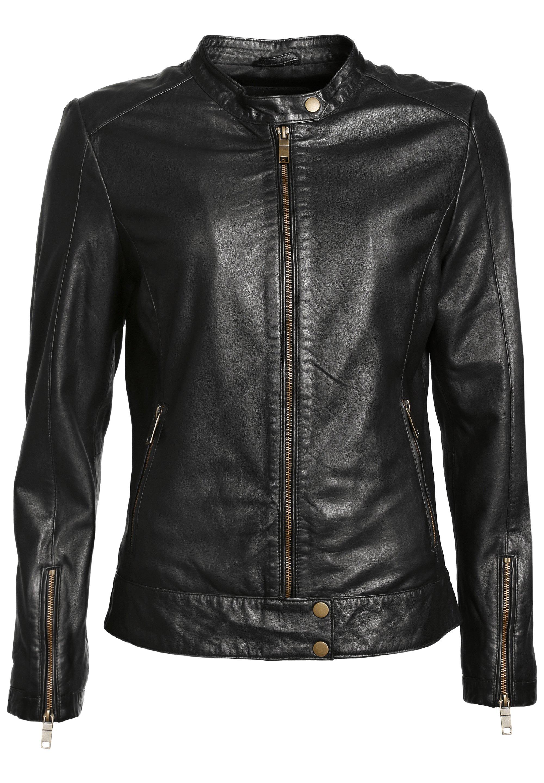 JCC Leren jas black Zalando.nl