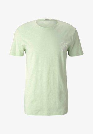 Print T-shirt - smooth green