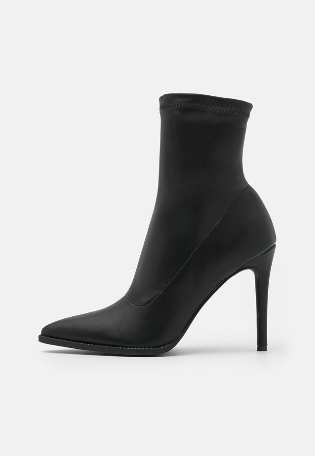 STILETTO SOCK BOOT - Botki - black