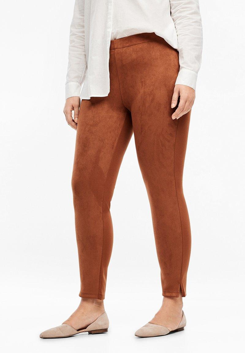 Triangle - Leggings - Trousers - cognac