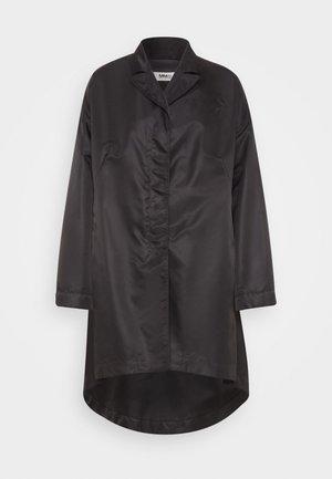 TRENCH COAT - Leather jacket - black